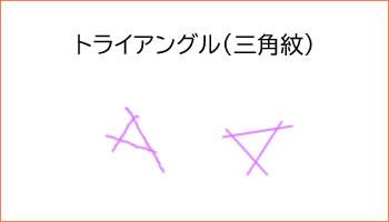 トライアングル(三角紋)です。